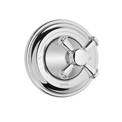 Vivian Cross Handle Three-Way Diverter Trim With Off - Polished Chrome
