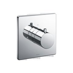 Square Volume Control Valve Shower Trim - Polished Chrome