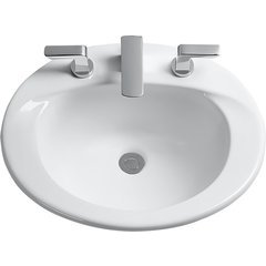 Supreme Oval Self-Rimming Drop-In Bathroom Sink For 4 Inch Center Faucets - Ebony <small>(#LT511.4#51)</small>