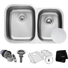"32"" Undermount Double Bowl Kitchen Sink Stainless Steel"