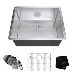 "23"" Undermount Single Bowl Kitchen Sink-Stainless Steel"