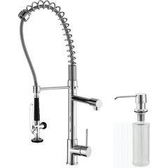 Comnmercial One Handle Kitchen Faucet & Soap Dispenser Chrom