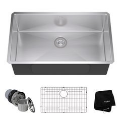 "32"" Undermount Single Bowl Kitchen Sink-Stainless Steel"