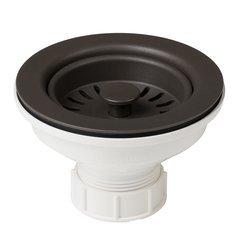 ABS Plastic Kitchen Sink Strainer-Brown