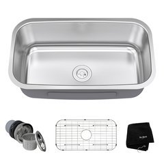 "31"" Undermount Single Bowl Kitchen Sink-Stainless Steel"