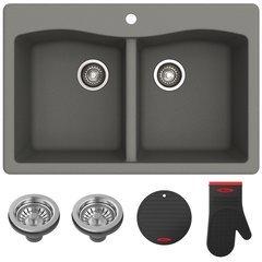 """Fortenza 33"""" Dual Mount Kitchen Sink-Grey Granite"""