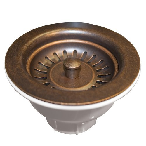 "Native Trails 3-1/2"" Round Basket Strainer - Weathered Copper DR320-WC"