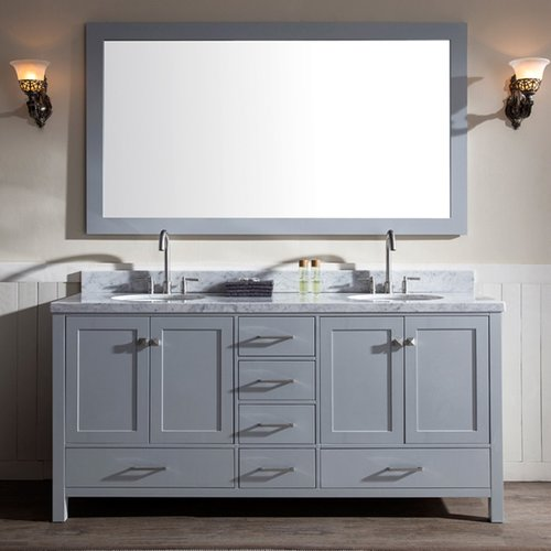 """73"""" Cambridge Double Sink Bathroom Vanity - Gray <small>(#A073D-GRY)</small>"""