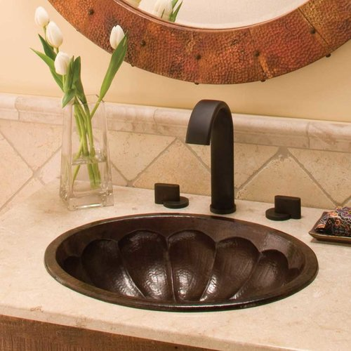 """18-3/4"""" x 15-3/4"""" Calabash Universal Mount Bath Sink- Copper <small>(#CPS267)</small>"""