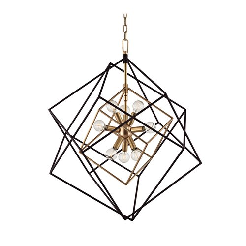 Roundout 8 Light Island Pendant - Aged Brass <small>(#1222-AGB)</small>