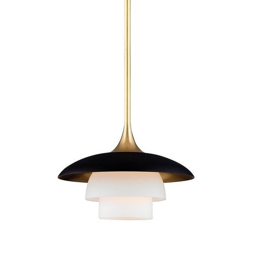 Baroon 1 Light Island Pendant - Aged Brass <small>(#1010-AGB)</small>