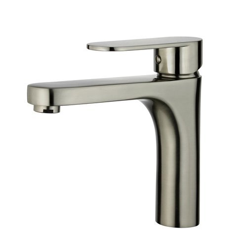 Donostia Bathroom Faucet with Single Handle Lever in Brushed Nickel Finish <small>(#10167N1-BN-W)</small>
