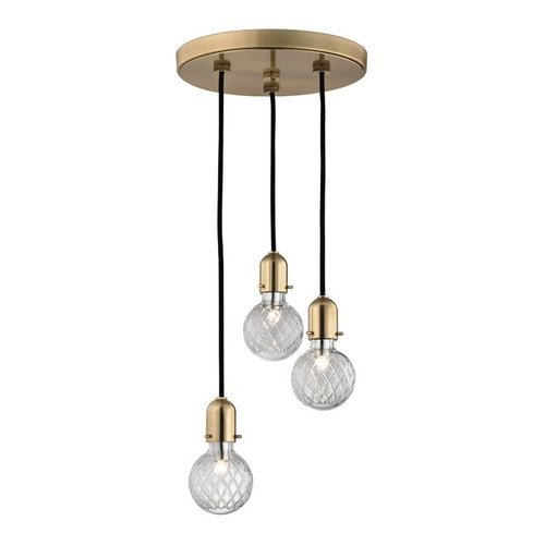 Marlow 3 Island Pendant - Aged Brass <small>(#1103-AGB)</small>