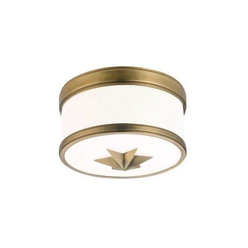 Seneca 1 Light Flush Mount - Aged Brass <small>(#1109-AGB)</small>