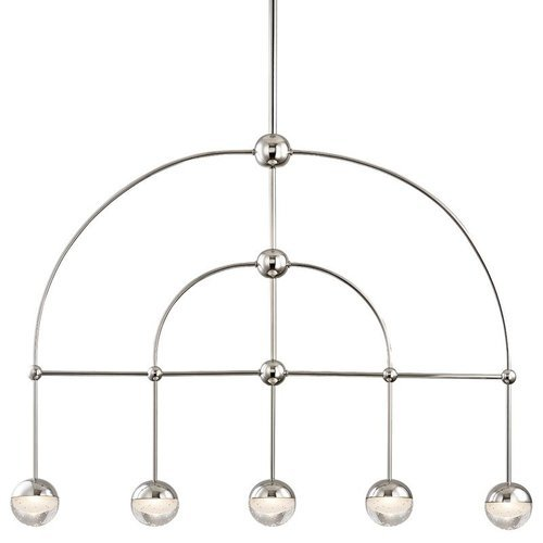 Boca 5 Light Led Island - Polished Nickel <small>(#1225-PN)</small>