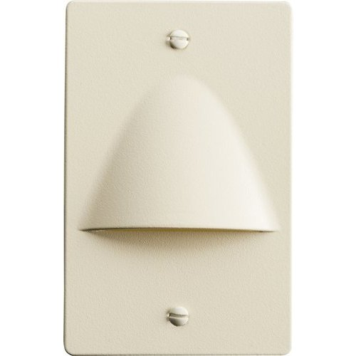 Kichler 5 Inch Non-Dimmable LED Step Light Vertical Warped - Almond 12667ALM