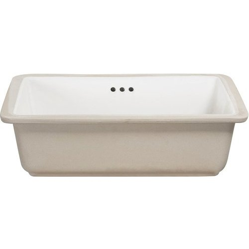 17 Inches X 13 Inches Drop-in Porcelain Undermount Sink - White <small>(#14-1713-W)</small>