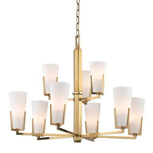 Upton 9 Light Chandelier - Aged Brass <small>(#1809-AGB)</small>