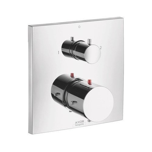 AXOR Starck X Thermostatic Trim with Volume Control and Diverter - Chrome 10726001