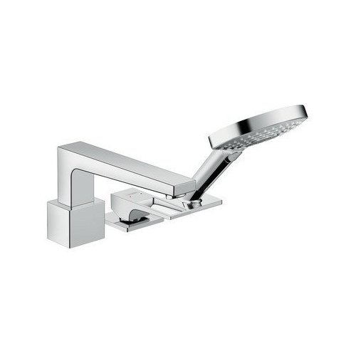 Hansgrohe Metropol 3 Hole Roman Tub Set Trim with Loop Handle with 2.0 GPM Handshower 74551001