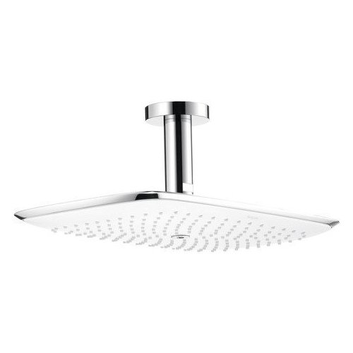 Hansgrohe PuraVida 400 AIR 1-Jet Showerhead with Ceiling Mount, 2.5 GPM 27390001