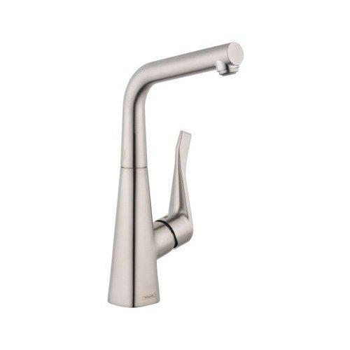 Hansgrohe Metris Bar Faucet, 1.5 GPM - Steel Optik 04509800
