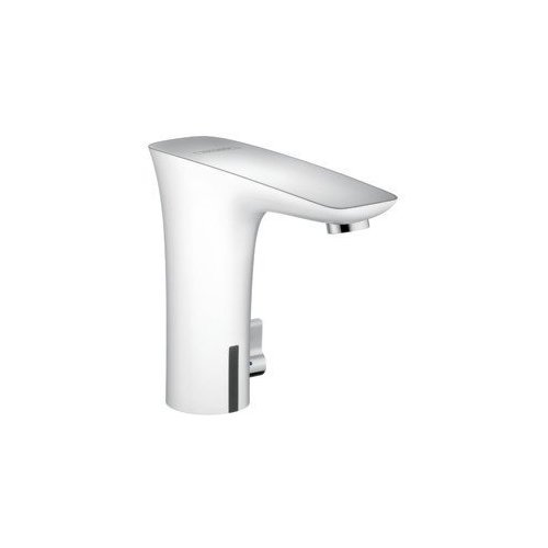 hansgrohe PuraVida Electronic Faucet with Temperature Control - Chrome/White 15170401