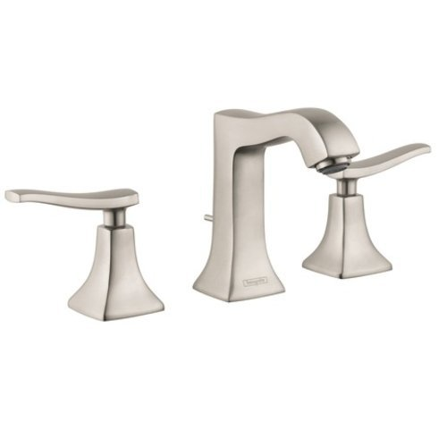 Hansgrohe Metris C Two-Handle Widespread Bathroom Faucet - Nickel 31073821