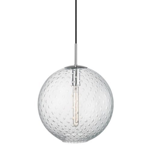 Rousseau 1 Light Island Pendant -Polished Chrome/Clear Glass <small>(#2015-PC-CL)</small>