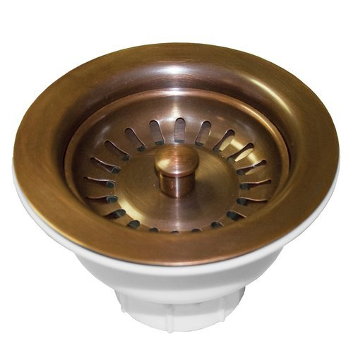 """3-1/2"""" Round Basket Strainer - Solid Copper <small>(#DR320-SC)</small>"""