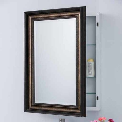 "Bellaterra 30"" x 22"" Recessed/Surface Mount Mirror - Bronze 808990"