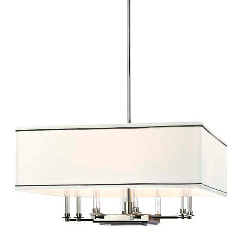 Collins 8 Light Chandelier - Polished Nickel <small>(#2924-PN)</small>