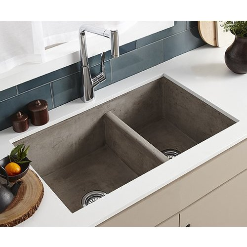 "33"" x 21"" Farmhouse Reversible Kitchen Sink - Ash <small>(#NSKD3321-A)</small>"