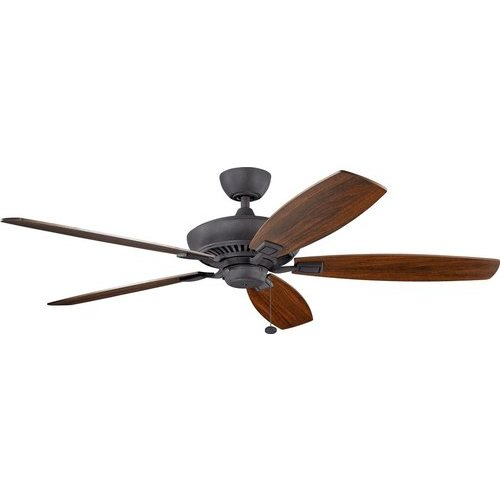 60 Inch Canfield Ceiling Fan - Distressed Black and Walnut/Cherry <small>(#300188DBK)</small>