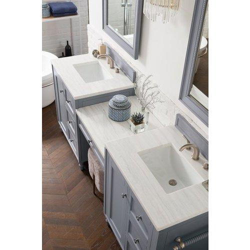 James Martin 96 Copper Cove Double Sink Vanity W Solid Surface Top Silver Gray 301 V86 Sl Du 3af Keats Castle