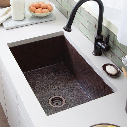 """30"""" x 18"""" Cocina Farm House Kitchen Sink -Antique Copper <small>(#CPK293)</small>"""