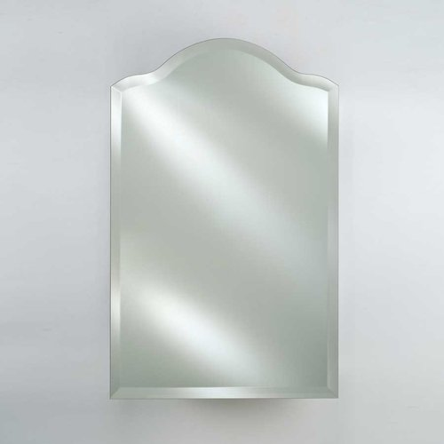 "20"" Scallop Top Wall Mount Mirrored Medicine Cabinet-Beveled <small>(#SD-2026-SCA-BV)</small>"