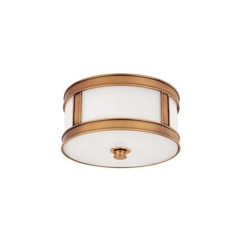 Patterson 1 Light Flush Mount - Aged Brass <small>(#5510-AGB)</small>