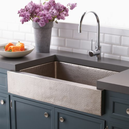 "Native Trails 33"" x 22"" Paragon Farm House Kitchen Sink - Brushed Nickel CPK591"