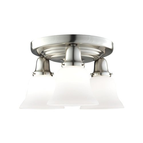 Edison Collection 3 Light Semi Flush - Satin Nickel <small>(#587-SN-341)</small>