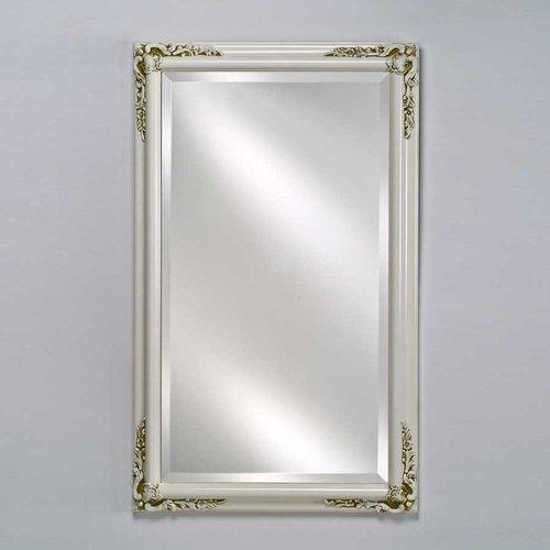 """Estate 24"""" Mirror - Antique White <small>(#EC13-2430-WT)</small>"""