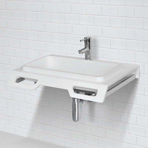 "DECOLAV Nasira 18"" x 25"" Wall Mount Bathroom Sink - White 1834-SSA"