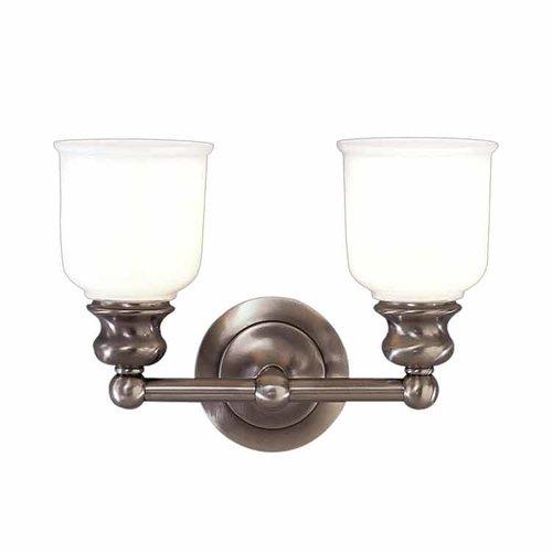 Hudson valley riverton 2 light bathroom vanity light for Bathroom decor riverton