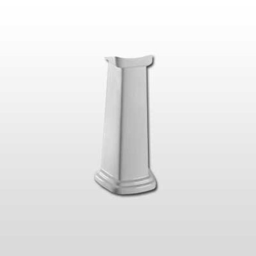 Promenade Pedestal Sink Base ONLY - Cotton White <small>(#PT530N#01)</small>