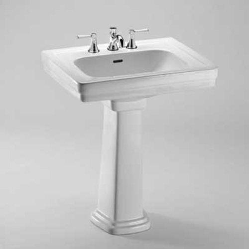"TOTO 22-1/4"" x 27-1/2"" Pedestal Bathroom Sink - Cotton White LPT530.8N#01"