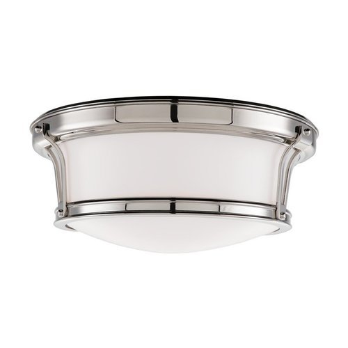 Newport 2 Light Flush Mount - Polished Nickel <small>(#6513-PN)</small>