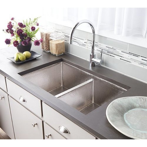 "33"" x 22"" Cocina Undermount Kitchen Sink - Brushed Nickel <small>(#CPK575)</small>"