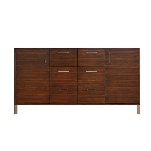 """60"""" Metropolitan Double Cabinet Only w/o Top-American Walnut <small>(#850-V60D-AWT)</small>"""