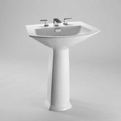 "29-1/2"" x 19-5/8"" Pedestal Bathroom Sink - Cotton White <small>(#LPT960.8#01)</small>"