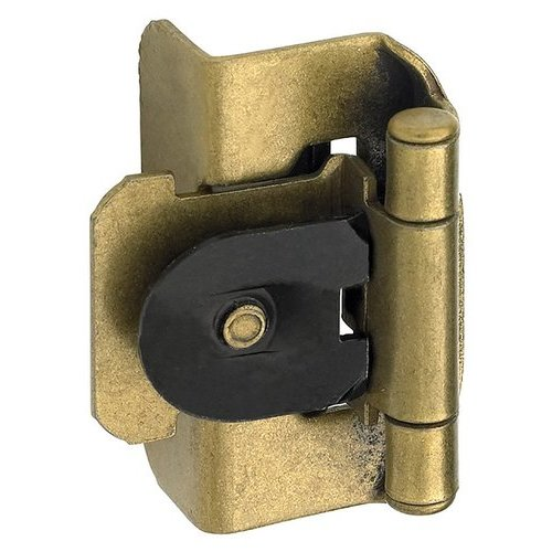 Double Demountable 1/2 inch Overlay Hinge Burnished Brass- Pair <small>(#BPR8704BB)</small>
